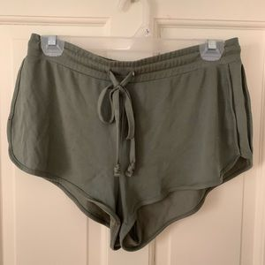 Olive Green Soft Shorts